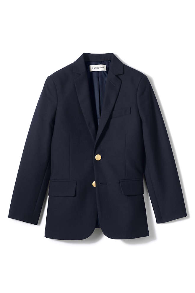 School Uniform Boys Tailored Fit Hopsack Blazer, Front