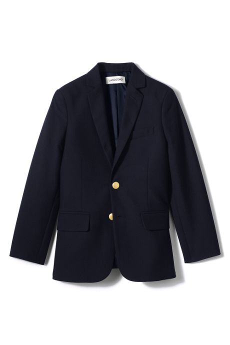School Uniform Little Boys Tailored Fit Hopsack Blazer