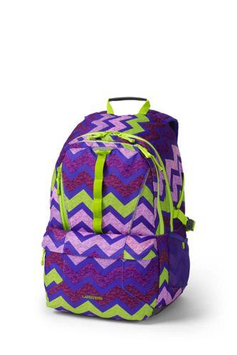 Gemusterter großer ClassMate Rucksack für Mädchen