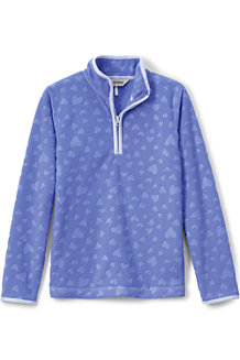 Girls' Embossed Fleece Half-zip Pullover