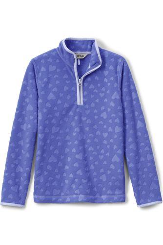 Strukturfleece-Pullover für kleine Mädchen