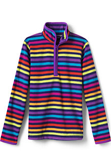 Girls' Patterned Fleece Half-zip Pullover