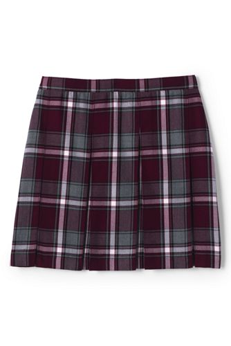 Little Girls Plaid Box Pleat Skirt Top of the Knee