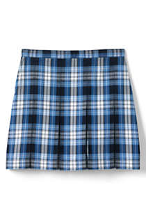 School Uniform Little Girls Plaid Box Pleat Skirt Top of the Knee, Back