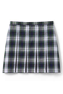 Girls Plaid Box Pleat Skirt Top of the Knee, Back