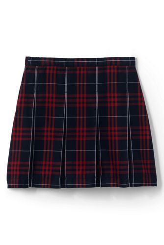 Girls Plaid Box Pleat Skirt Top of the Knee