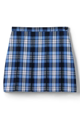 School Uniform Plaid Box Pleat Skirt Top Of The Knee From Lands End