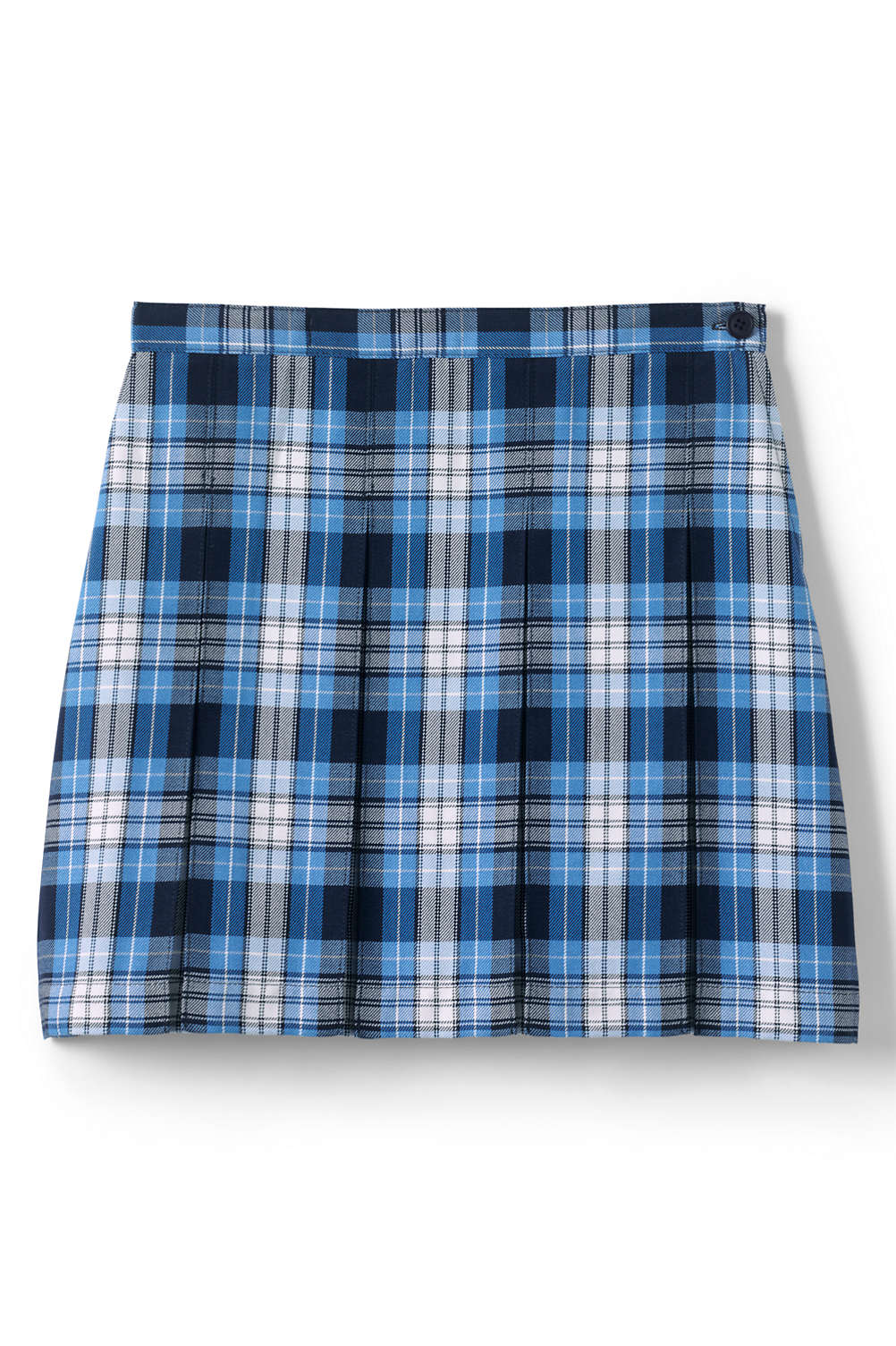 047be8216d School Uniform Plaid Box Pleat Skirt Top of the Knee from Lands' End
