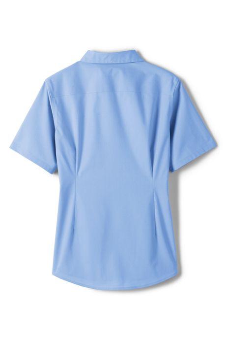 School Uniform Girls Short Sleeve Stretch Perfect No Gape Shirt