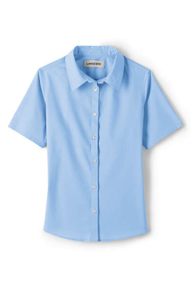 db7ffb30 Girls Stretch Perfect No Gape Shirt from Lands' End
