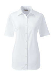 School Uniform Women's Short Sleeve Stretch Perfect No Gape Shirt