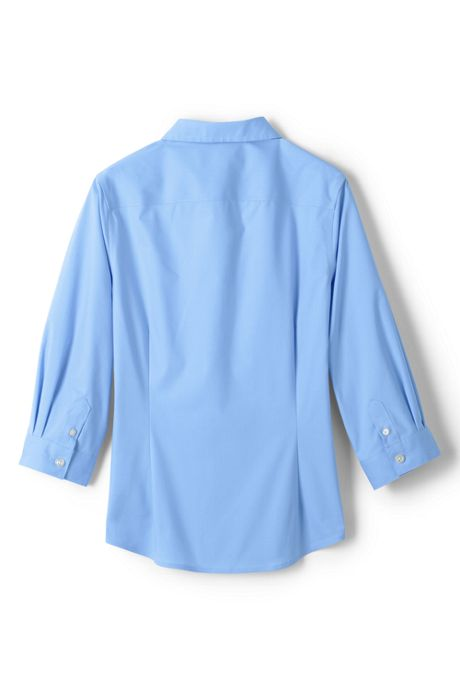Girls 3/4 Sleeve Stretch Perfect No Gape Shirt