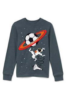 Boys' Long Sleeve Appliqué Graphic Tee