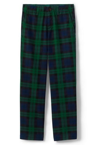 Little Boys' Iron Knee® Plaid Cadet Trousers