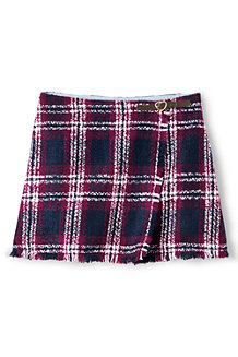 Girls' Fringed Wrap Skirt