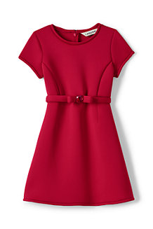 Girls' SS Bonded Knit Dress