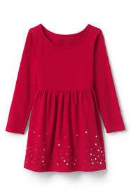 Toddler Girls Gathered Waist Graphic Jersey Dress