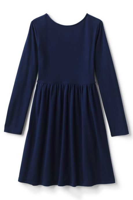 Girls Plus Gathered Waist Graphic Jersey Dress