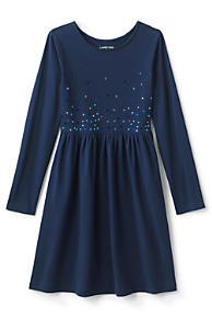 f12dea57e2 Little Girls Gathered Waist Graphic Jersey Dress