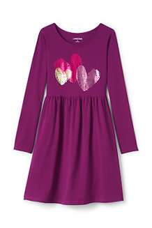 Girls' Gathered Waist Graphic Dress