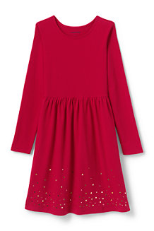 Jerseykleid mit Grafik-Print für Mädchen