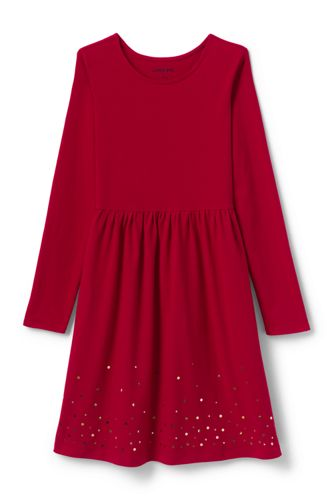 Toddler Girls' Print Sequin Dress