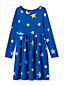 Gemustertes Jerseykleid mit langem Arm für kleine Mädchen