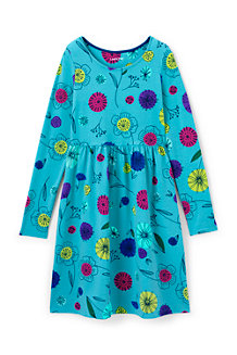 Girls' Gathered Waist Jersey Dress