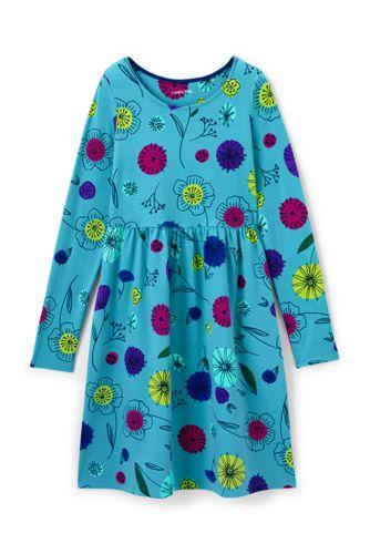 Gemustertes Jerseykleid mit langem Arm für Baby Mädchen