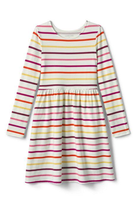 Little Girls Gathered Waist Jersey Dress
