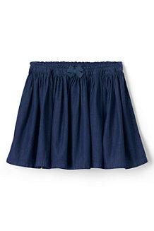 Girls' Gathered Chambray Skirt