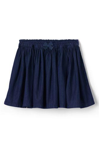 Little Girls' Gathered Chambray Skirt