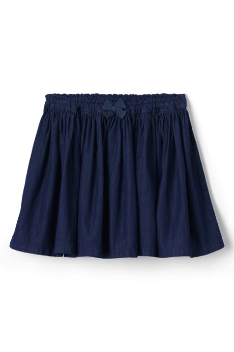 Girls Gathered Chambray Skirt