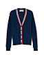 Girls' Long Sleeved V-Neck Rib Cardigan