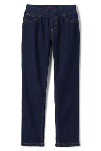 Little Girls' Pull-on Denim Jeggings