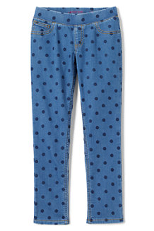 Girls' Pull-on Pattern Denim Jeggings