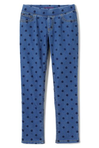 Little Girls' Pull-on Pattern Denim Jeggings