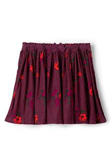 Girls' Gathered Cord Print Skirt