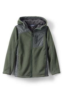 2-Lagen Fleece-Jacke mit Kapuze für große Jungen