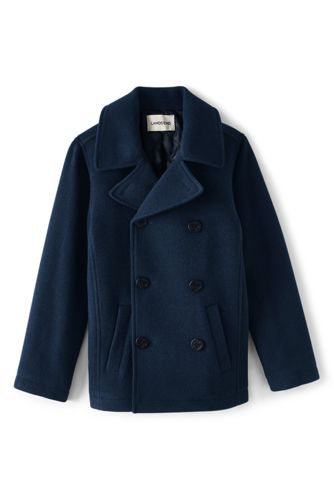 Little Boys' Wool Peacoat