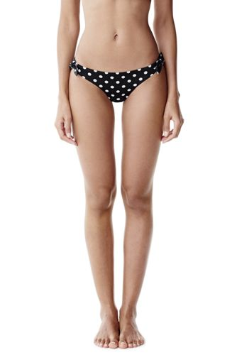 Women's Polka Dot Side Tie Bikini Bottoms