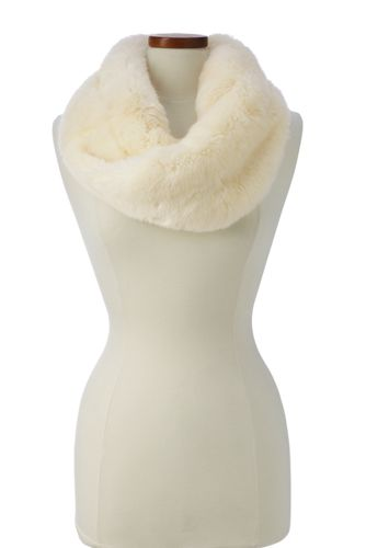 Women's Faux Fur Twisted Infinity Scarf