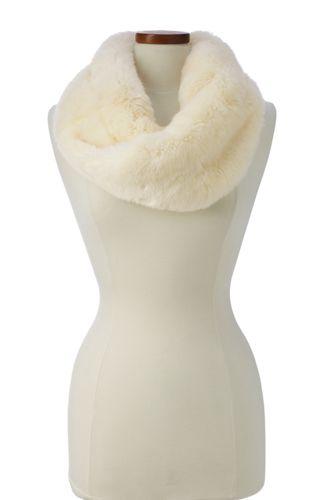 Women's Faux Fur Twisted Infinity Scarf