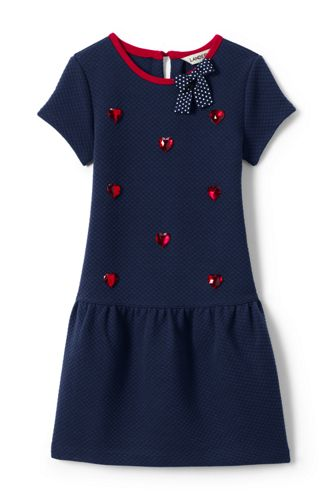 Girls' Drop Waist Quilted Dress
