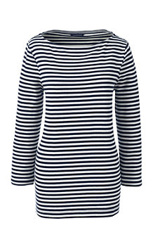 Women's Boatneck Striped Tee