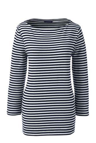Women's Regular Boatneck Striped Top