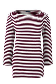 Women's Boatneck Striped Top
