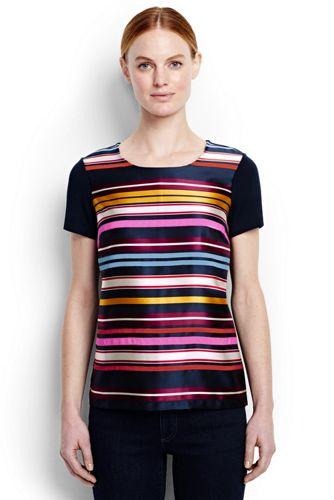 Ponté-Shirt mit hübscher Front