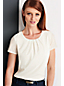 Women's Pleated front Jersey T-shirt