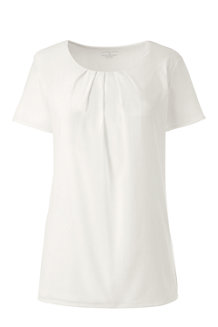 Women's Pleated front Jersey Tee